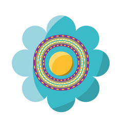 decorative flower vector image