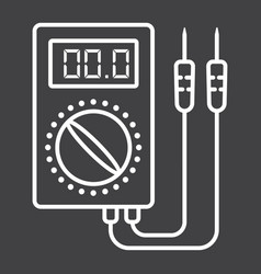 Digital multimeter line icon build and repair vector