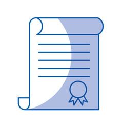 Diploma graduation isolated icon vector