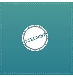 Discount icon badge label or sticker vector