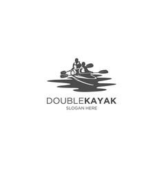 Double kayak vector