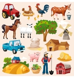 Farm Icon Set vector