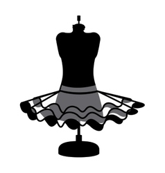 female fashion dress isolated icon design vector image