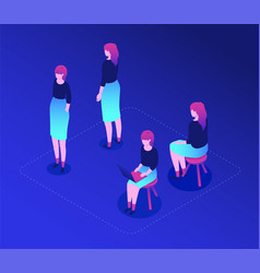 female worker - modern isometric character vector image