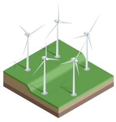 Flat 3d isometric Wind vector