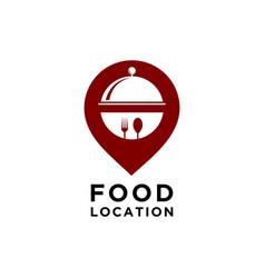 food location logo template vector image