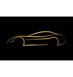 Golden abstract car logo vector