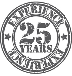 Grunge 25 years of experience rubber stamp vector