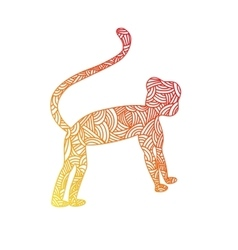 Happy chinese new year of the monkey Abstract vector image