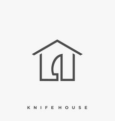 house knife template vector image