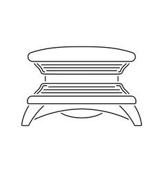 Icon of solarium vector