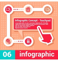 infographic concept touchpad vector image