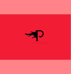 Initial letter p monogram flame fire logo design vector