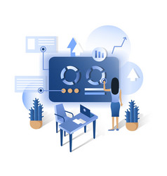 isometric future technology smart home blue vector image