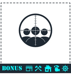 Kill icon flat vector