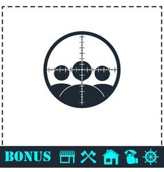Kill icon flat vector image vector image