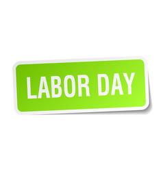 Labor day square sticker on white vector