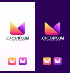 m logo design vector image