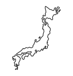 Map icon Japan culture graphic vector