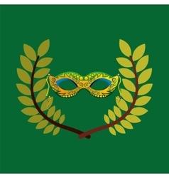 Mask carnival brazil olympic games emblem vector