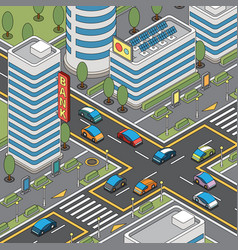 modern city block composition vector image