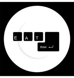 Modern restaurant icon vector
