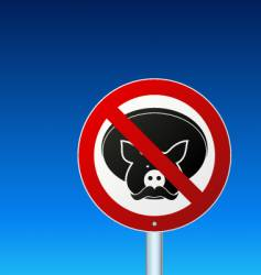 No mexican pork sign vector