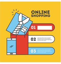 Online shopping flat vector