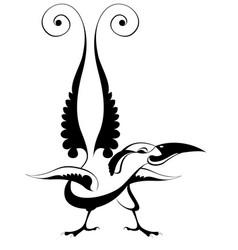 original art bird isolated vector image