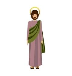 Picture colorful saint josepf father vector
