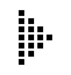 Play button symbol vector