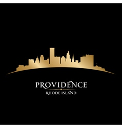 Providence Rhode Island city skyline silhouette vector image