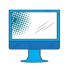 retro monitor screen icon vector image