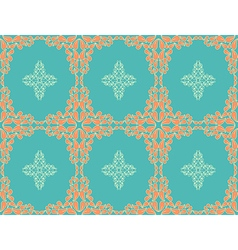 Retro seamless flower pattern vector image