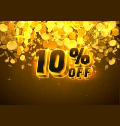 Sale 10 off banner promotion discount flyer big vector