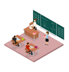 school education concept 3d isometric view vector image
