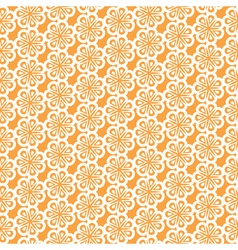 Seamless pattern of abstract flowers background vector