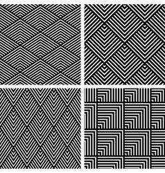 Seamless pattern set vector