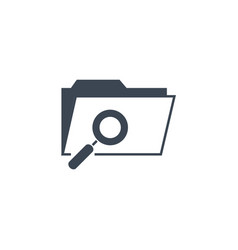search folder related glyph icon vector image