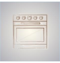 Sketch of oven vector