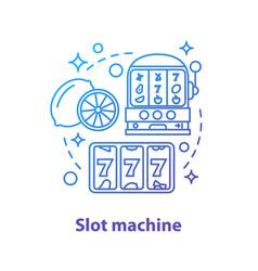 Slot machine concept icon vector