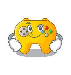 Smirking video game controller shaped on charcter vector