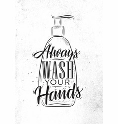 Soap dispenser graphic vector