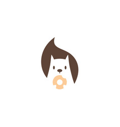 squirrel donuts logo icon mascot character vector image