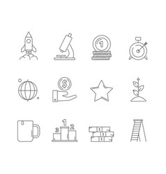 startup business icon creative exploring vector image