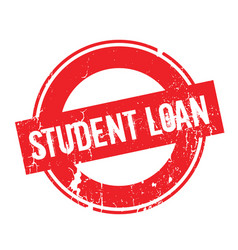 Student loan rubber stamp vector