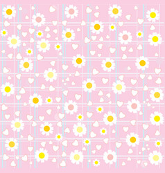 Sweet cute flower pattern background vector