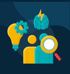 Talent acquisition flat concept icon vector