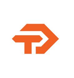 td letter logo template vector image
