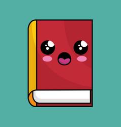Text book school character kawaii vector